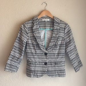 CAbi Black and White Blazer Jacket Size 2